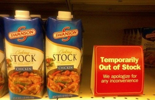 out of stock,chicken stock,stock