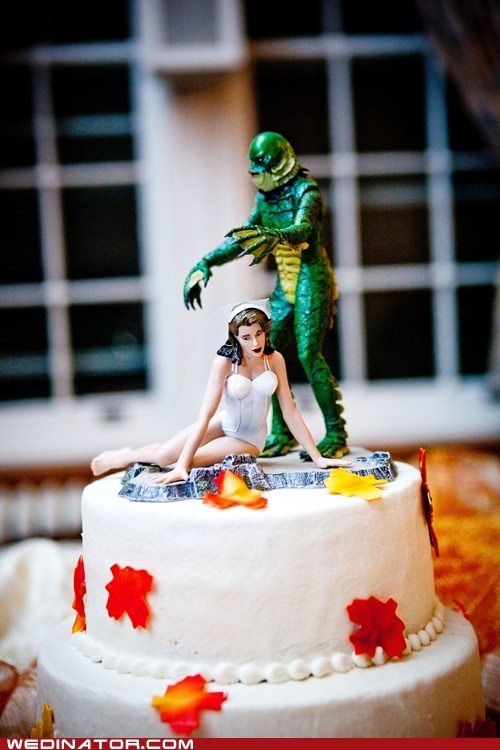 cake topper creature from the black lagoon figure