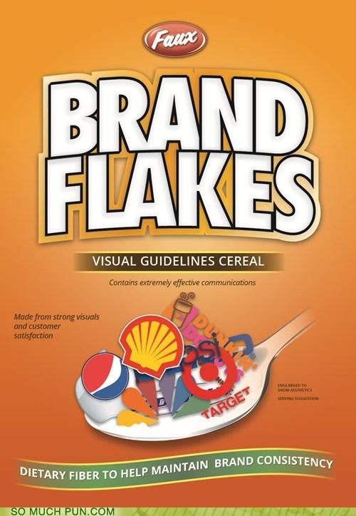 mockup bran flakes similar sounding literalism brand bran cereal - 6763365632