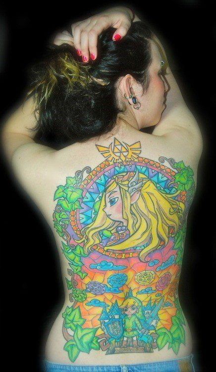 the legend of zelda back tattoos win - 6763427072