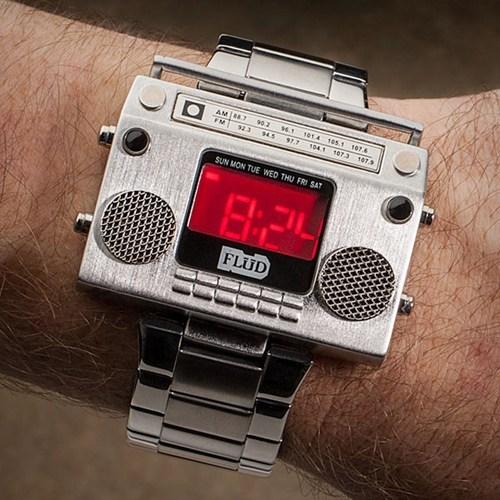 wrist watch,boombox