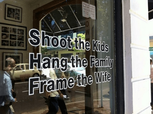 photography photographers kids hang frame wife shoot literalism family double meaning