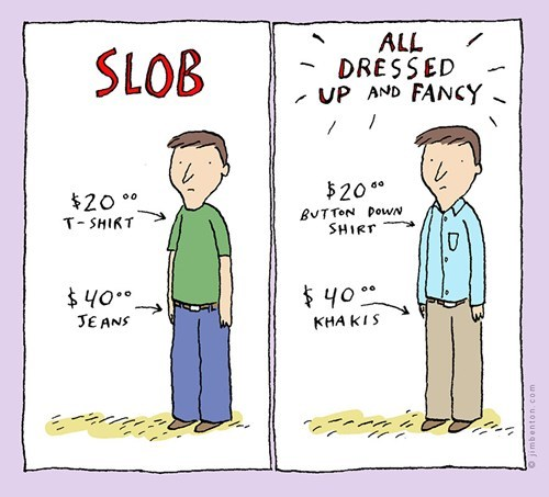 slob jim benton comic dressed up - 6763703808