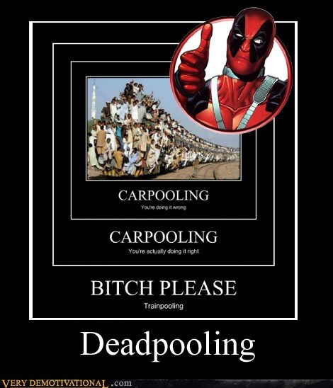 deadpool,carpooling,train