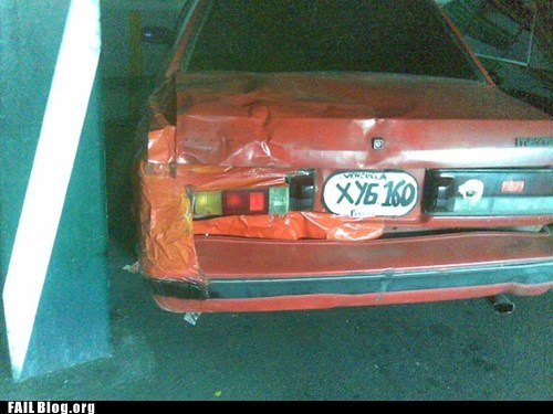 red tape,masking tape,bumper