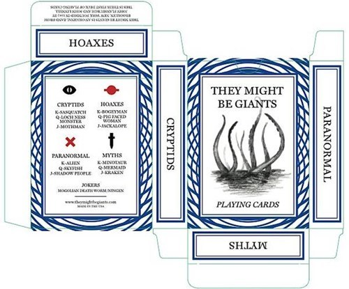 Cryptozoology,cards,TMBG,playing cards,kracken