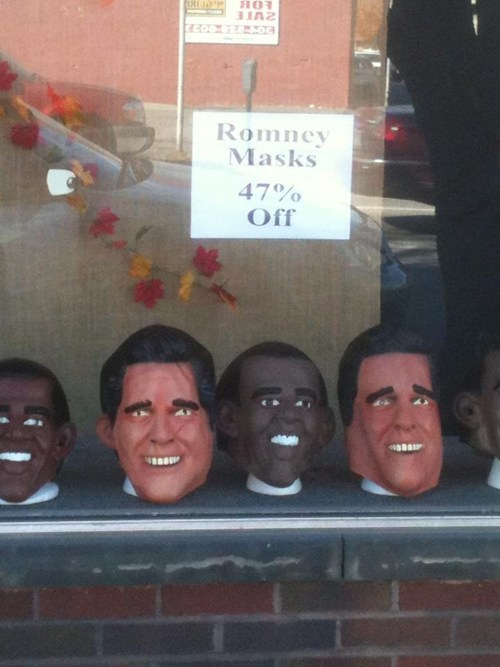 47 percent Mitt Romney sale barack obama masks - 6763981824
