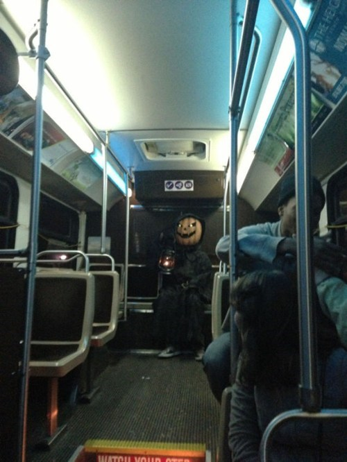 scary,pumpkins,costume,bus