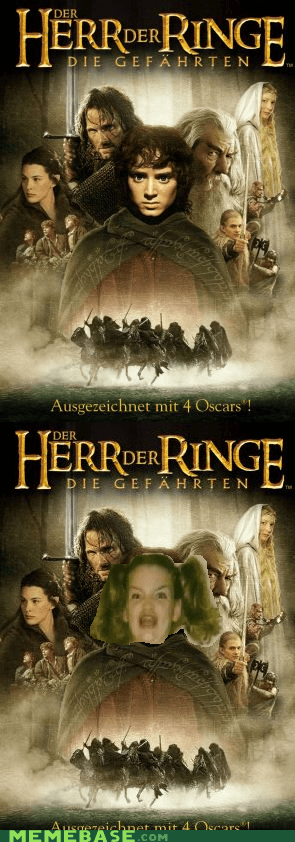movie poster,Lord of the Rings,Ermahgerd,german