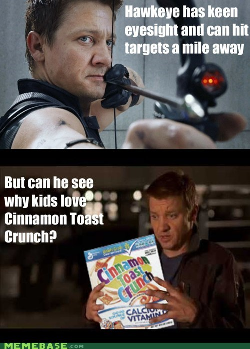 commercial,cinnamon toast crunch,Movie,The Avengers,hawkeye