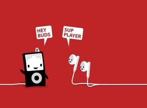 ipod pun earbuds - 6764120576