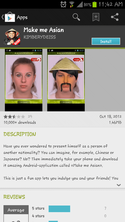 make me asian apps racist app