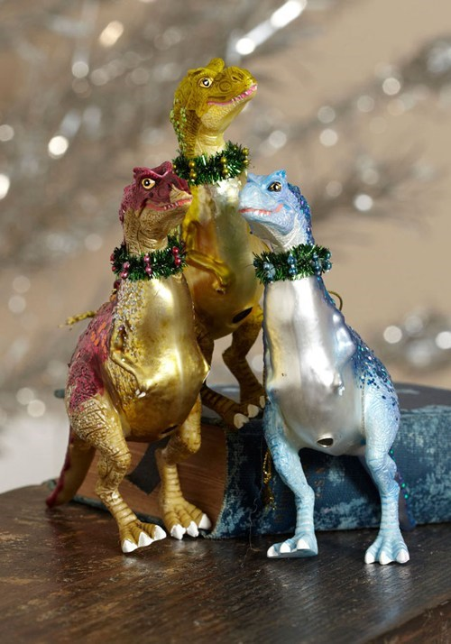 christmas ornaments holidays dinosaurs