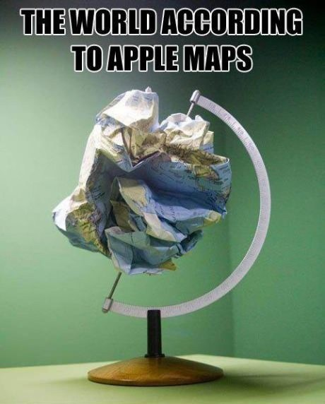apple maps globe ios 6