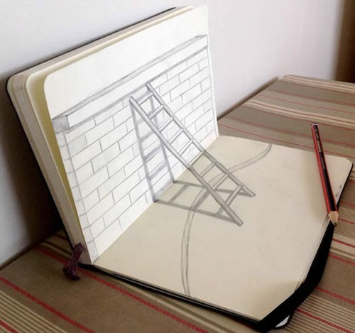 drawing art sketch portfolio perspective illusion - 6764248832