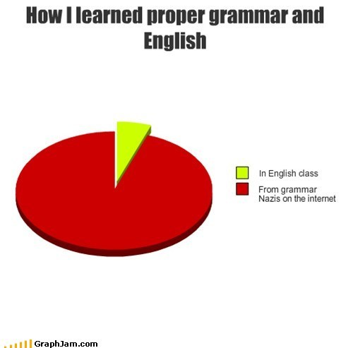 grammar nazi,internet,english,Pie Chart