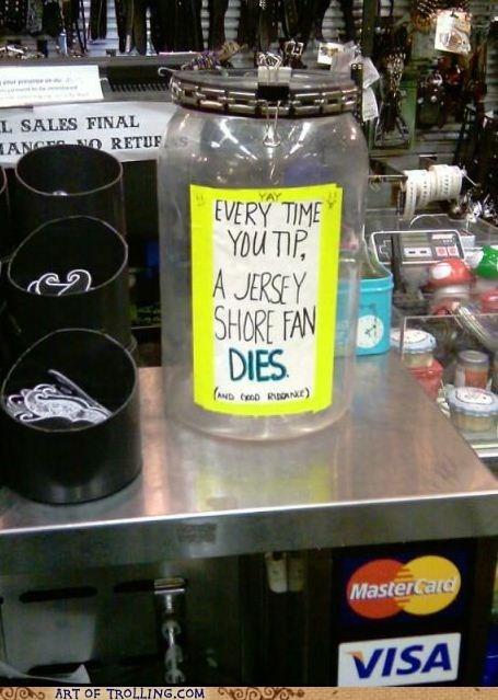 jersey shore,IRL,tip jar