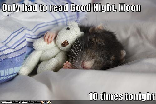 teddy bear kids cute goodnight moon sleeping mouse - 6764650240