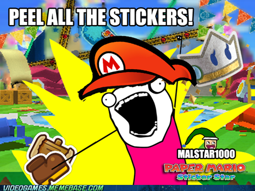 sticker star all the things 3DS paper mario
