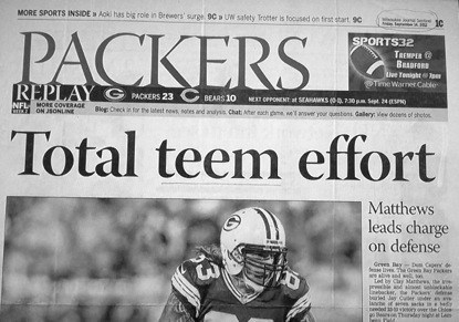 news sports typo team effort packers football spelling - 6764809728