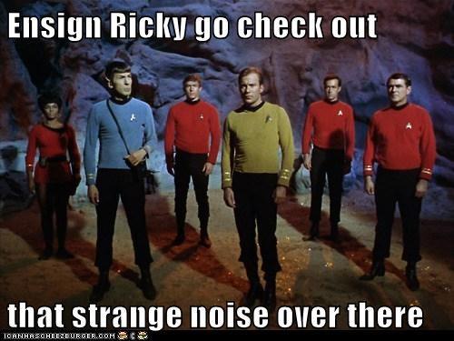 Captain Kirk scotty Spock uhura red shirts noise ensign Leonard Nimoy Star Trek William Shatner james doohan Nichelle Nichols - 6764823552