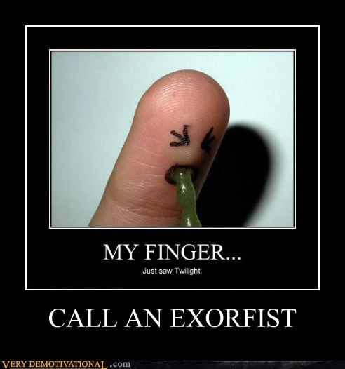 vomit pun finger exorcist twilight - 6764893952