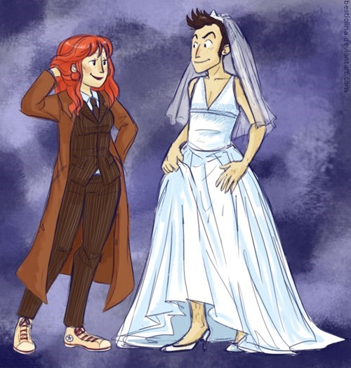 10th doctor,Fan Art,doctor who,the doctor donna,donna noble