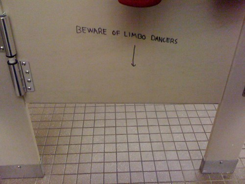 Bathroom Graffiti warning creepy limbo - 6765063424