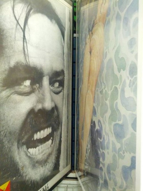 jack nicholson,lady bits,posters,juxtaposition,the shining