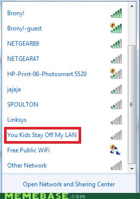 kids puns wifi lan
