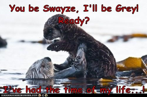 Patrick Swayze,song,otters,jennifer grey,dirty dancing