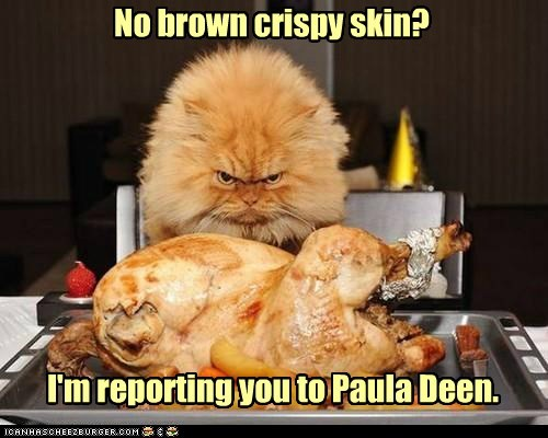 crispy thanksgiving captions Turkey paula deen Cats - 6765942016