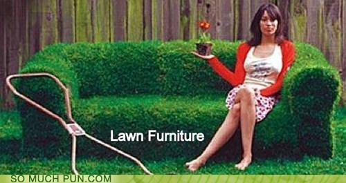 furniture,lawn,literalism,double meaning,lawn furniture