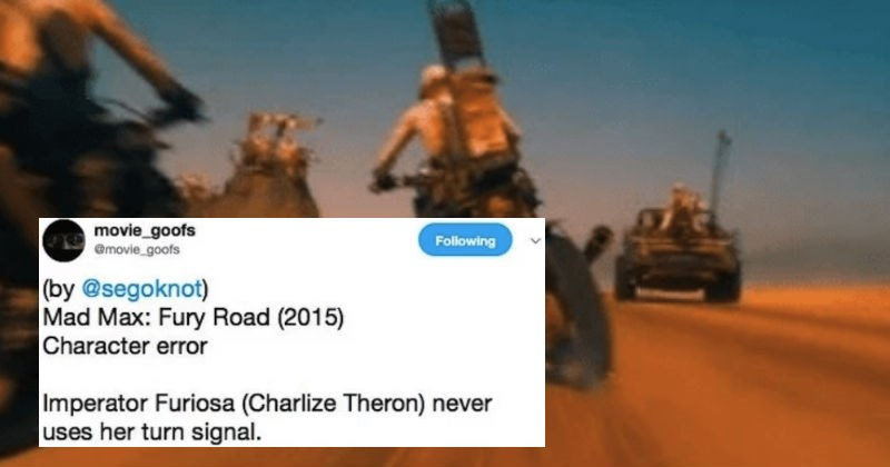 twitter account pointing out small details in movies