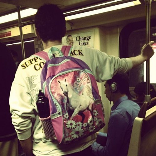 dreams,bus,horse,backpack