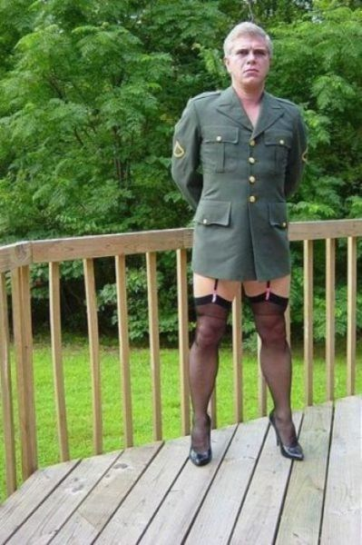 military,panty hose,cross dressing