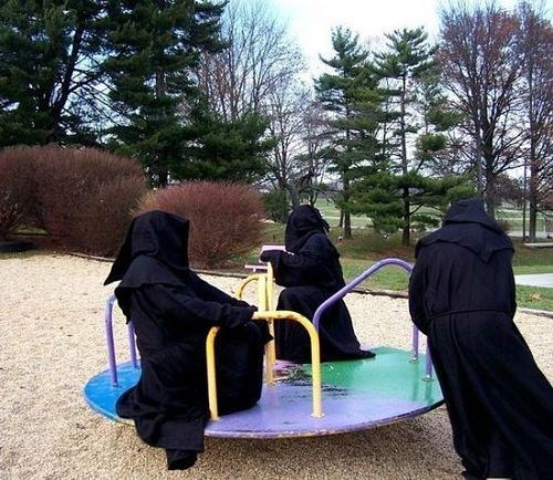 fun,cultists,robes,playground