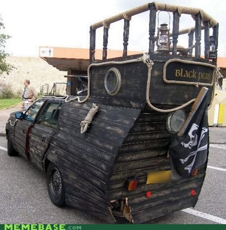 car,Pirates of the Caribbean,black pearl,ship