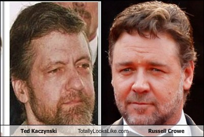 actor,Ted Kaczynski,TLL,celeb,Russell Crowe,terrorist,funny