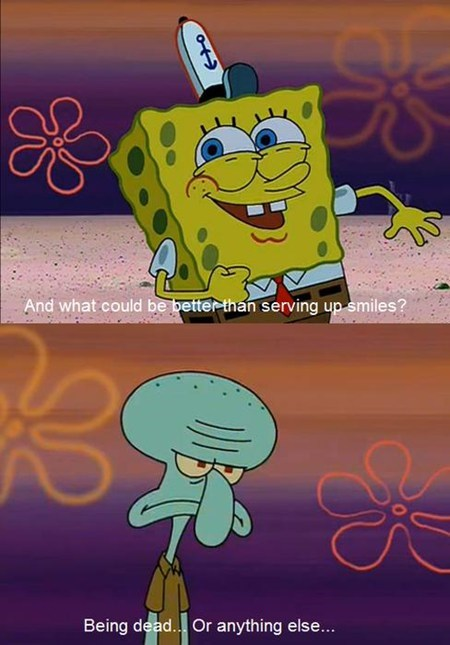 SpongeBob SquarePants TV cartoons squidward smile - 6766527232