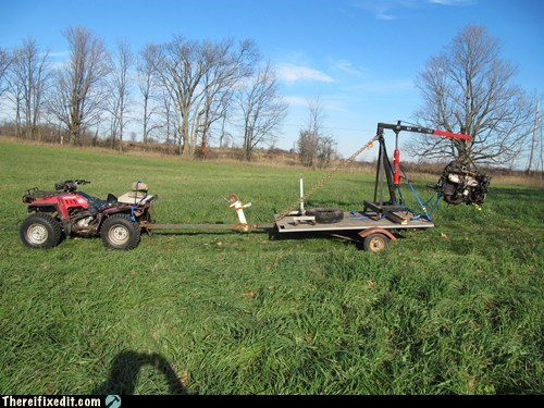 atv lawn mower crane