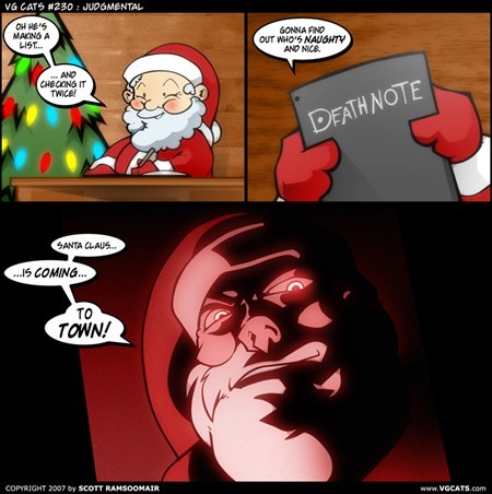 christmas list evil death note santa