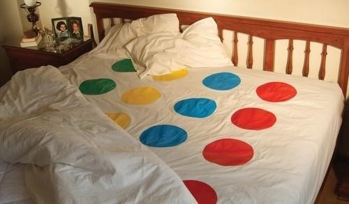 sexytime,sheets,twister,bed spread