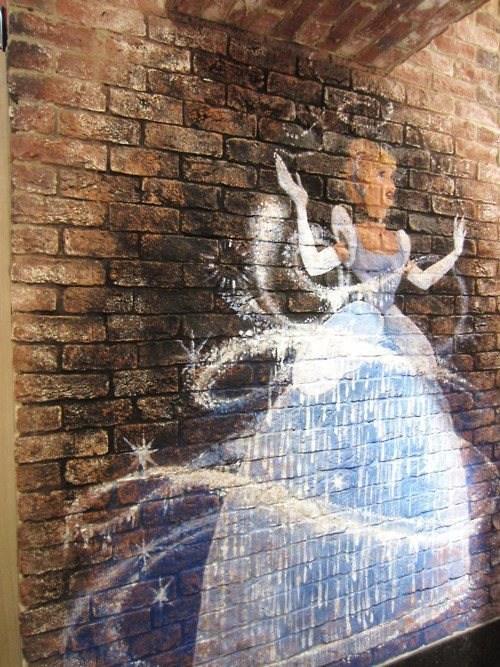 disney Street Art art cinderalla graffiti - 6767250944