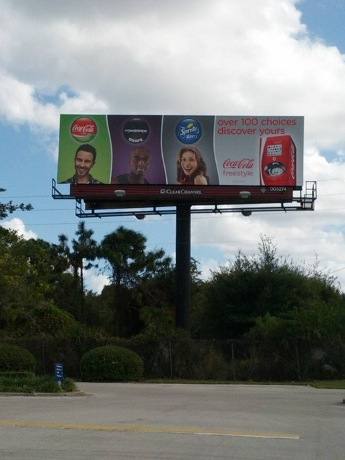 sign,billboard,racism,grape soda,racist,coca cola