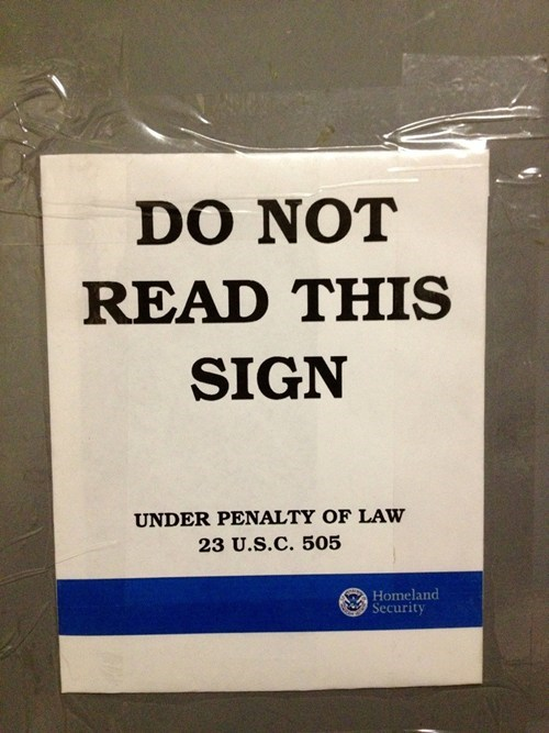 sign paradox reading impossible law Hall of Fame best of week