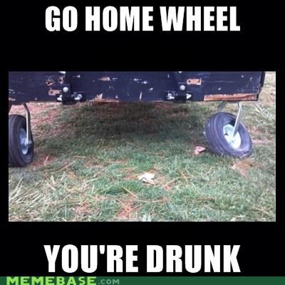 Drunk Uniform Cart Wheel