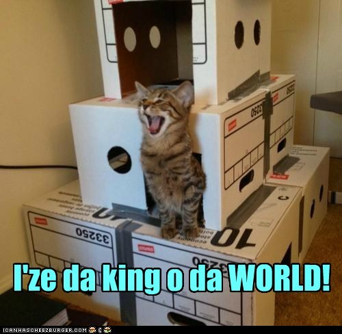 I'ze da king o da WORLD!
