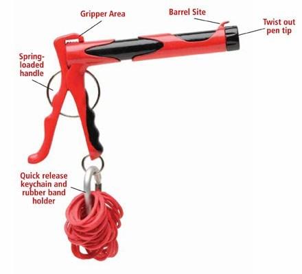 rubber bands pen gag Office gun pranks joke - 6767334400