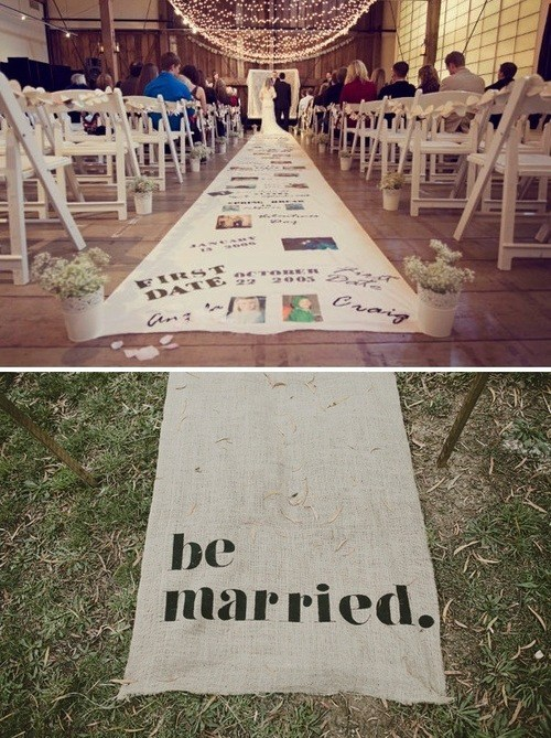 timeline floor rug ceremony scrapbook runner